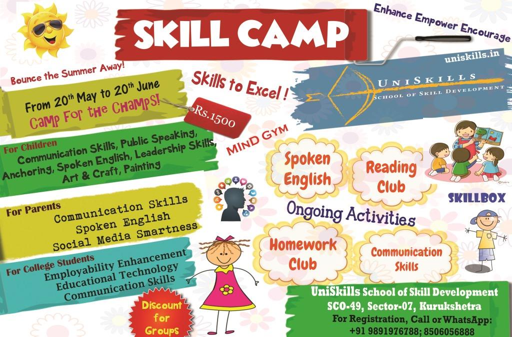 Skill Camp pamphlet